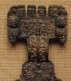 Detail of an Anglo-Saxon great square-headed brooch from Pagelsham, Essex.